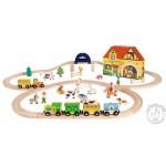 Circuit train en bois - Story Express Ferme - Janod