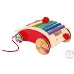 Xylophone à tirer jouet en bois musical