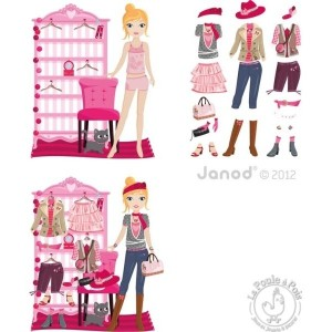 Stickers muraux dressing mode magnetique Janod