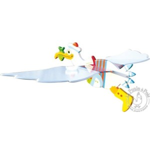 Mobile volant Jacob l'oiseau - Le coin des enfants