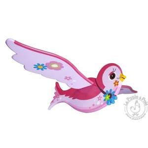 Mobile volant l'hirondelle rose - Le coin des enfants
