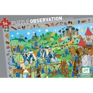 Puzzle d'observation Chevaliers Djeco