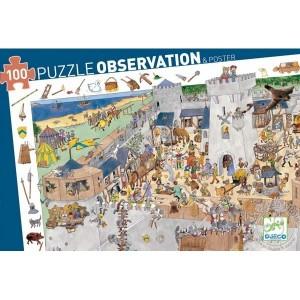 Puzzle d'observation Le chateau fort Djeco