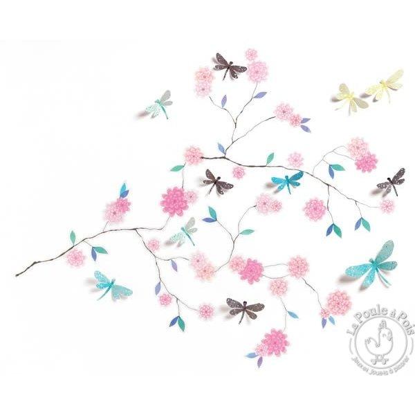 Stickers muraux 3D arbre aux papillons Djeco