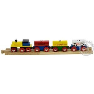 Train de céréales en bois avec rails Bigjigs