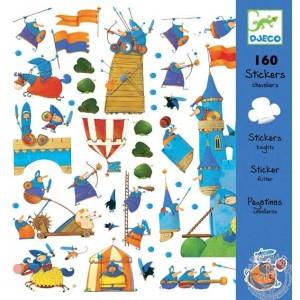 Stickers chevaliers chateau donjon - Djeco