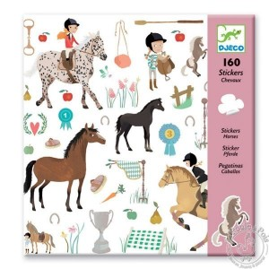 Stickers Les chevaux cavalier poney - Djeco