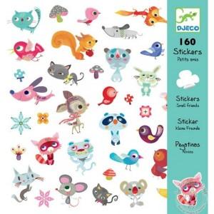Stickers petits amis chat chien oiseau souris écureuil - Djeco