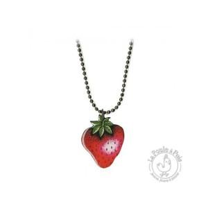 """Collier fraise """"tagada"""" Mlle Héloïse - La Marelle"""