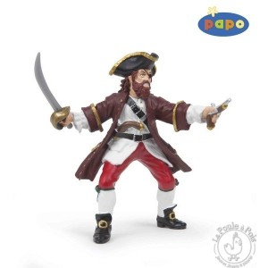 Figurine pirate Barberousse rouge - Papo