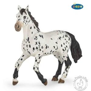 Figurine cheval appaloosa noir - Papo