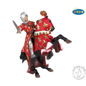 Figurine cheval du prince Philippe rouge - Papo