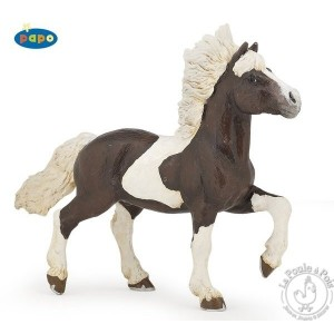 Figurine cheval islandais pie alezan - Papo
