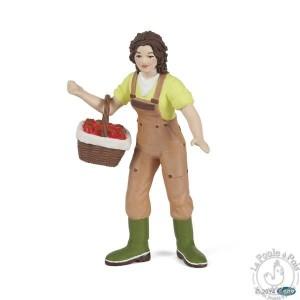 Figurine fermière au panier - Papo