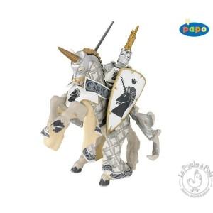 Figurine cheval du maître des armes cimier licorne - Papo