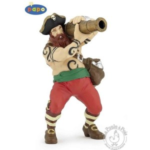 Figurine pirate au canon - Papo