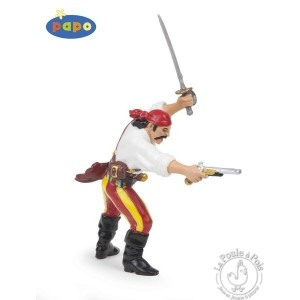Figurine pirate avec pistolet - Papo