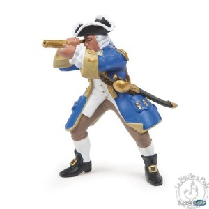Figurine pirate capitaine marine du Roy - Papo