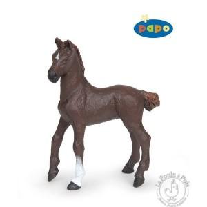 Figurine poulain pur-sang anglais alezan brûlé - Papo