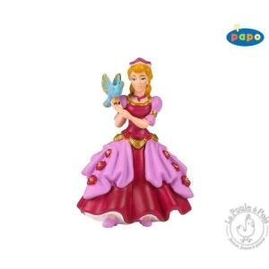 Figurine princesse rose à l'oiseau - Papo