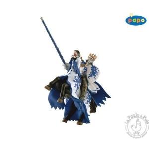 Figurine roi au dragon bleu - Papo