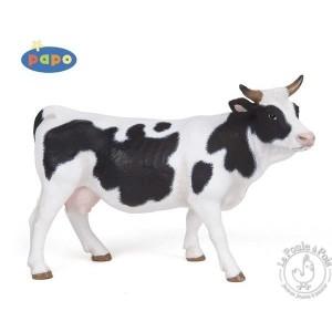 Figurine vache noire et blanche - Papo