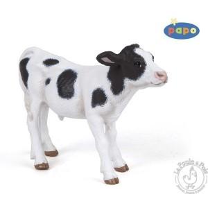 Figurine veau noir et blanc - Papo