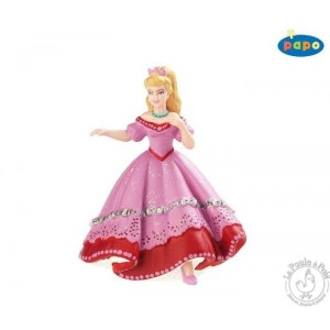 Figurines princesse rose au bal - Papo