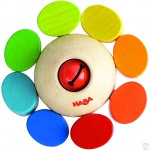 Hochet bois ronde des couleurs Haba