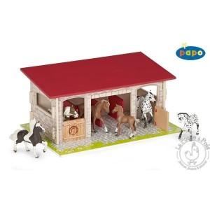 Le box à chevaux - Figurine Papo