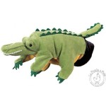 Peluche gant marionnette crocodile