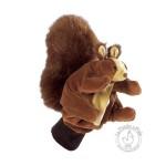 Peluche gant marionnette ecureuil