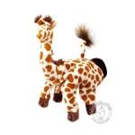 Peluche gant marionnette girafe