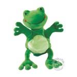 Peluche gant marionnette grenouille