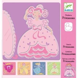 Pochoirs princesse Djeco