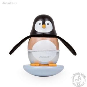 Jouet d'éveil enfant Culbuto Pingouin - Janod