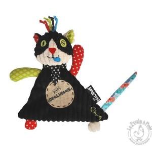 Doudou Charlos - Les Déglingos - Doudou noir bébé