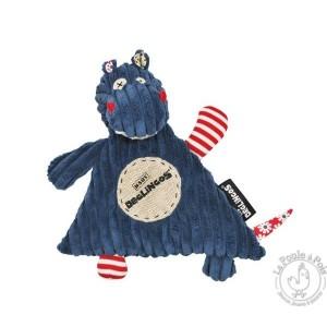 Doudou Hippipos - Les Déglingos - Doudou bébé bleu