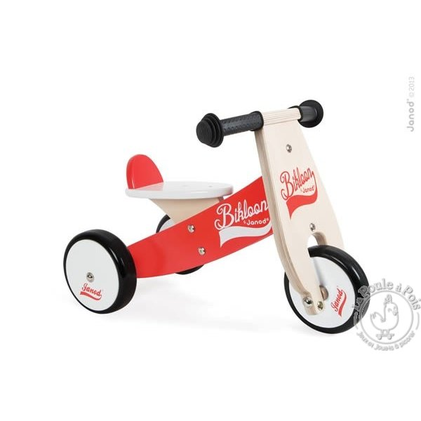 porteur-tricycle-bikloon-rouge-janod