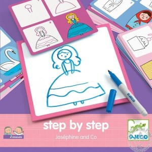 Apprendre à dessiner personnage princesse - Djeco