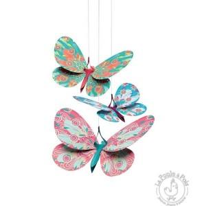 Décoration à suspendre papillons paillettes - Djeco