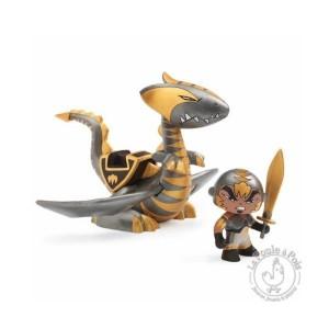 Figurine et dragon Chrome & Inferno chevalier arty toys - Djeco