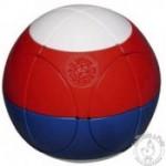 Sphère casse-tête Marusenko bleu blanc rouge niveau 3