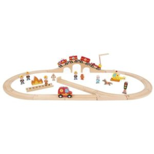 Circuit train pompiers Story Express Janod