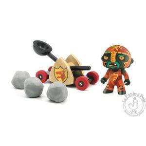 Figurine chevalier Arty Toys Baldy & big paf - Catapulte - Djeco