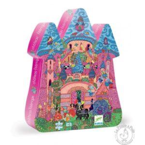 Puzzle silhouette château féerique - Djeco