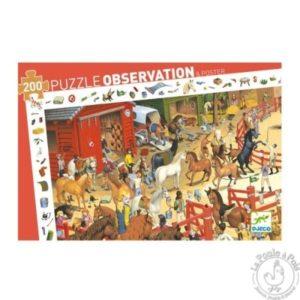 Puzzle d'observation équitation Djeco