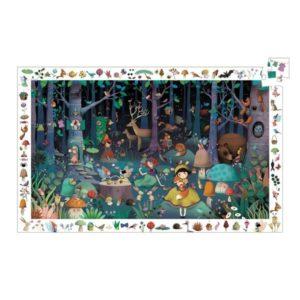 Puzzle d'observation la forêt enchantée Djeco