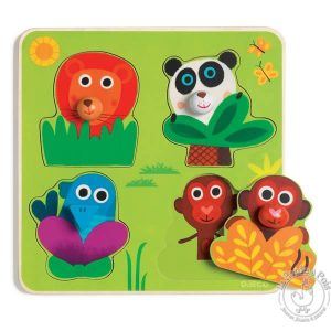 Puzzle encastrable animaux jungle - Djeco