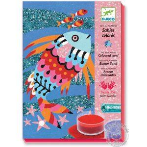 Sables colorés avec paillettes poissons - Djeco